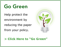 Go Green with Frankenmuth Insurance | Click Here